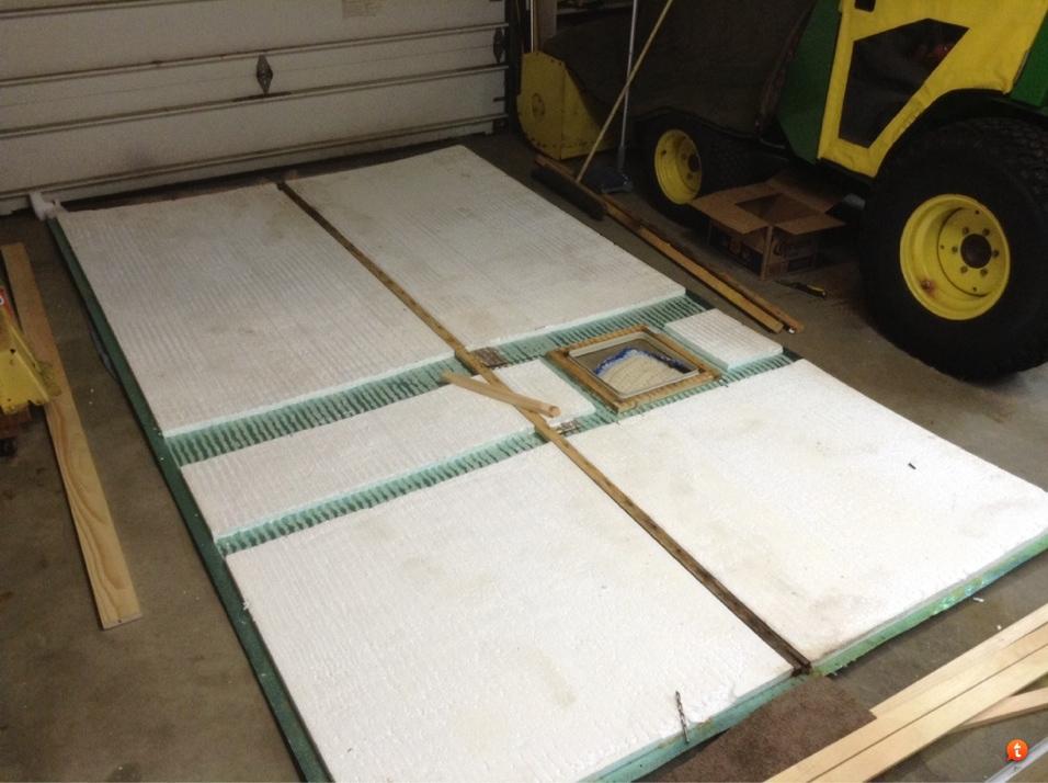 Jayco 1206 roof rebuild underway    | PopUpPortal