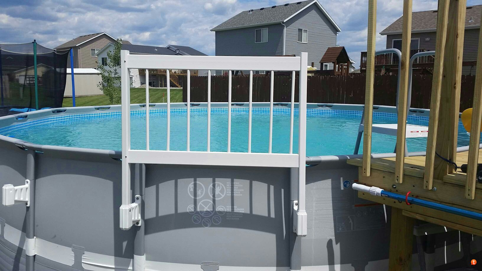Viynylworks 24 Safety Fence Install Trouble Free Pool