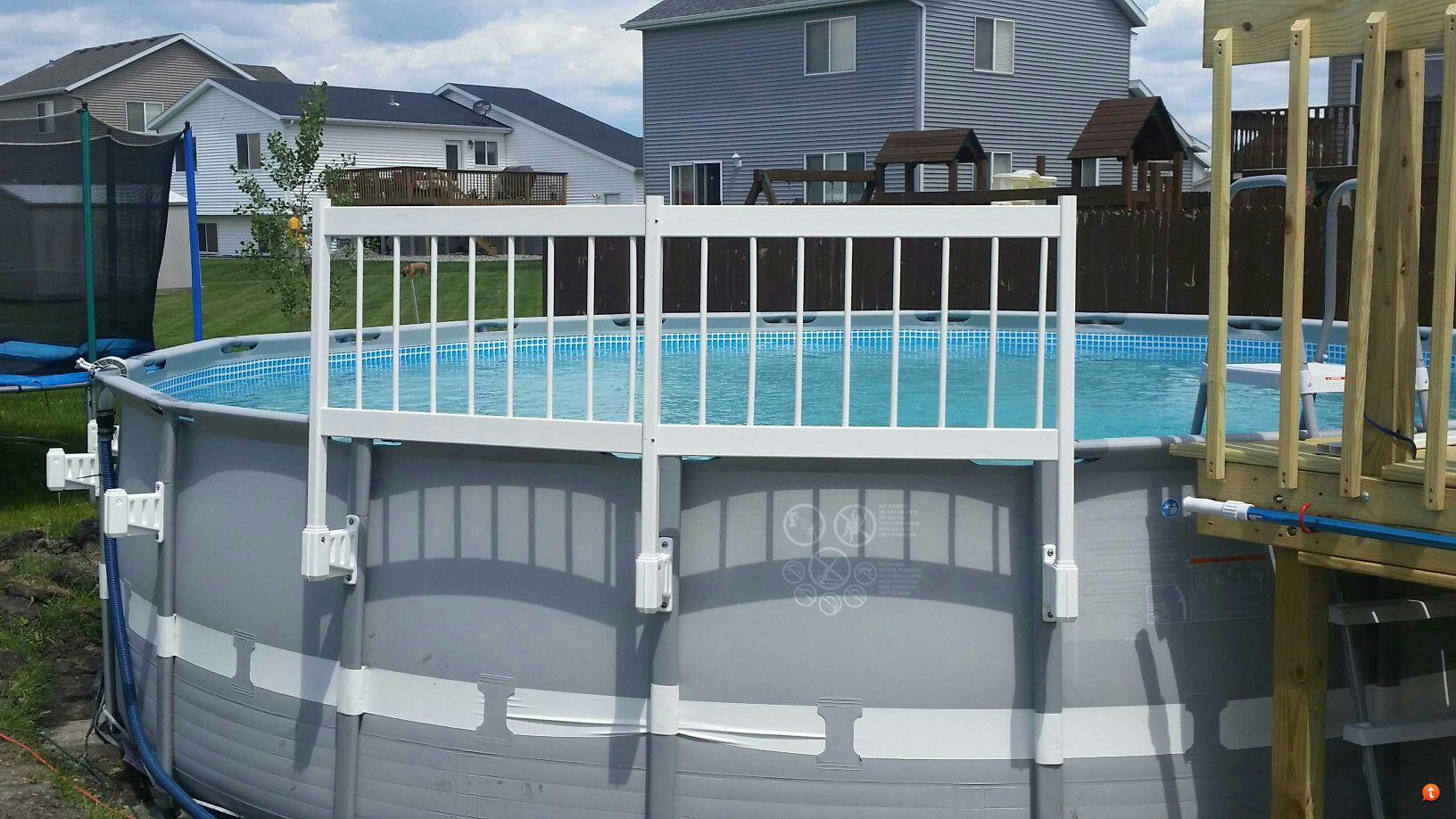"""Intex Pool Fence viynylworks 24"""" safety fence install"""