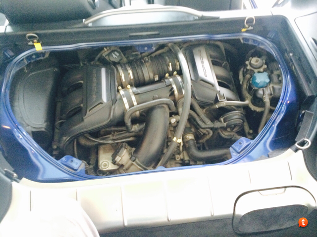 locate the air filter access which is on the left side of the engine bay if youre facing the car from behind its held in place by 2 screws unscrew them