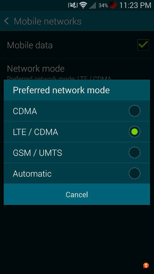 How to toggle off 4G/LTE -> 3G on Galaxy S5? - Samsung Galaxy S5