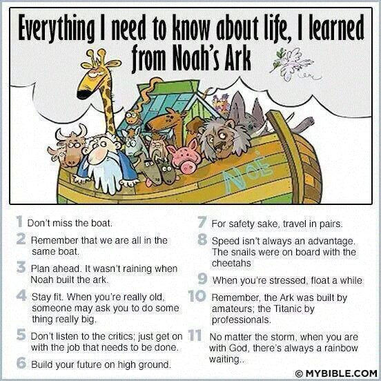 se3ehe7y - Life Lessons from Noah's Ark - Anonymous Diary Blog