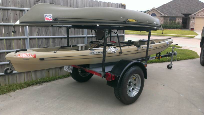 harbor freight kayak trailer texaskayakfisherman com