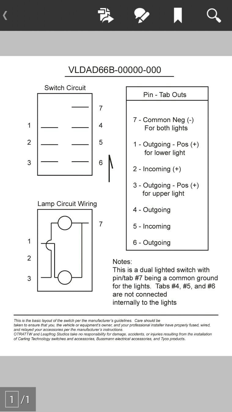 Fine Carling Lighted Switch Wiring Diagram Motif Electrical and
