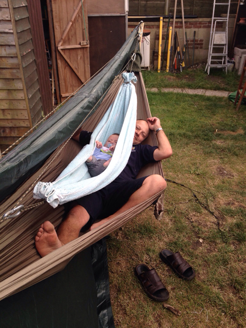 here u0027s something my brother and i came up with today for his 12 week old son  breakin u0027  u0027em in young            sharing a hammock with a child    page 2  rh   hammockforums