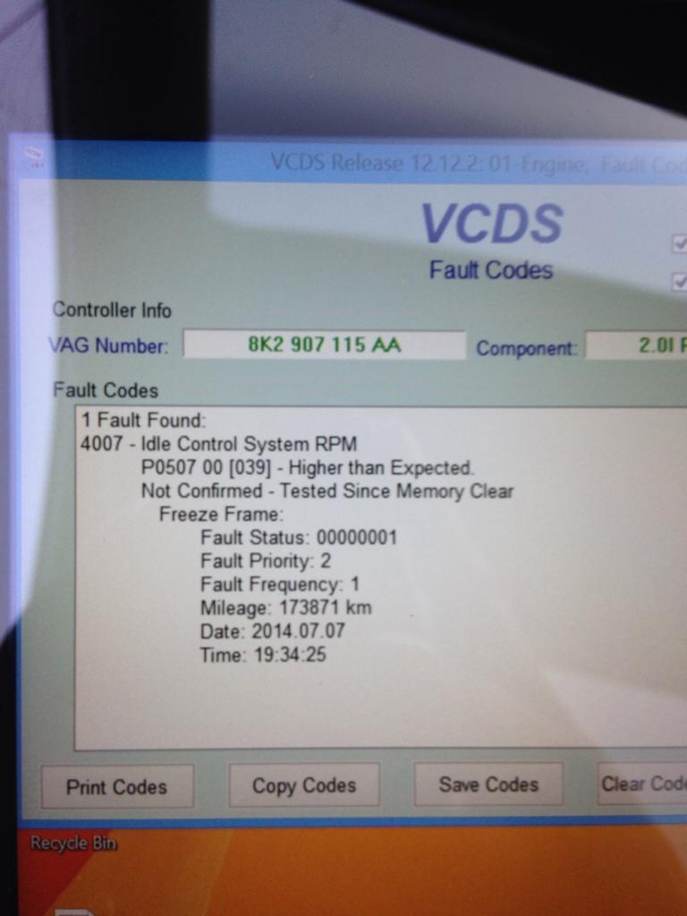 vw p0501 fault code