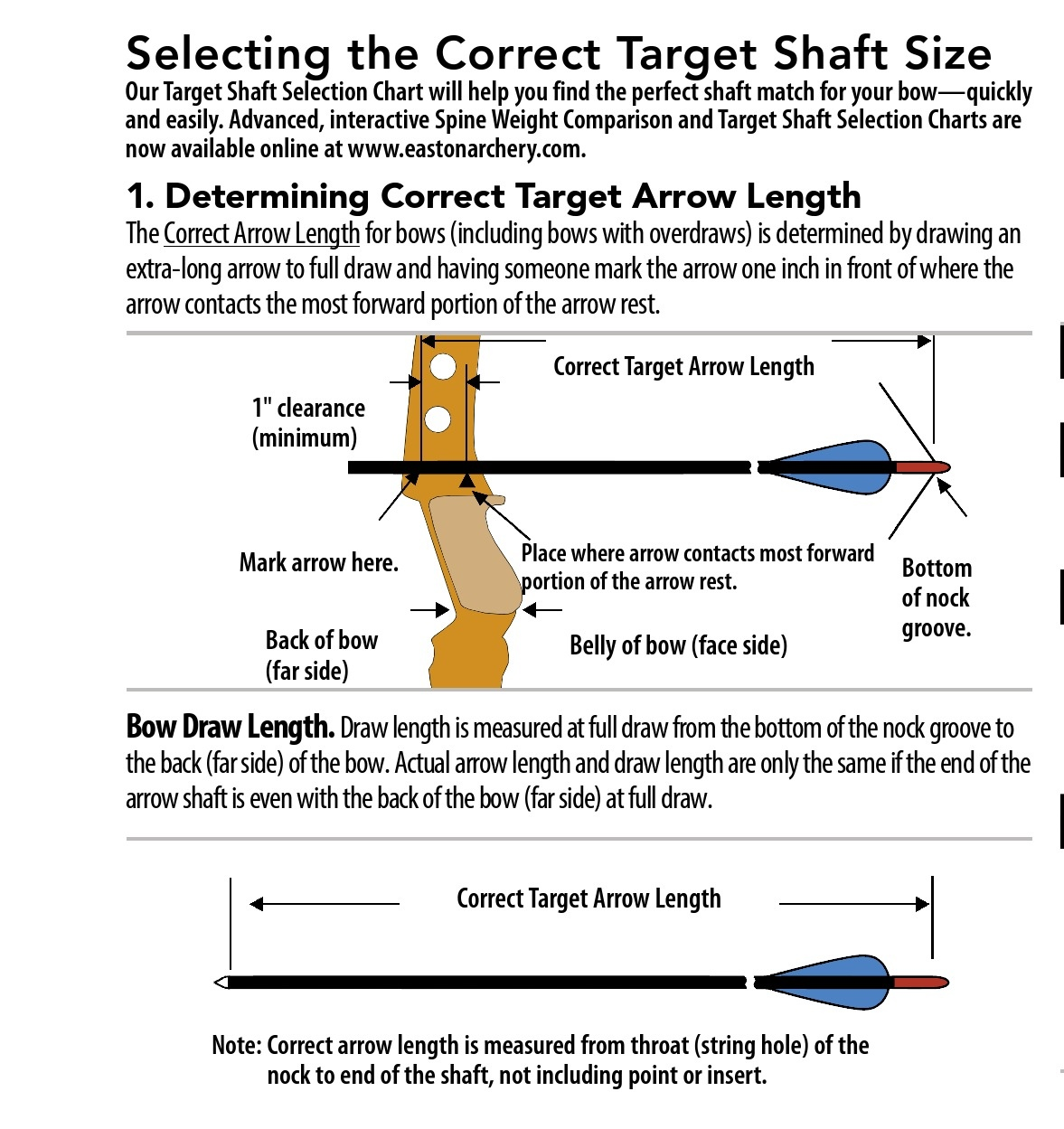 Easton Apollo Arrow Size Chart Getting The Right Arrow Bearsbutt
