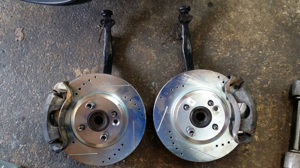 Crx Brake Embly To See How It Looks 90 91 Spindles Itr Calipers 07 Mini Cooper 11 Cross Drilled Rotors