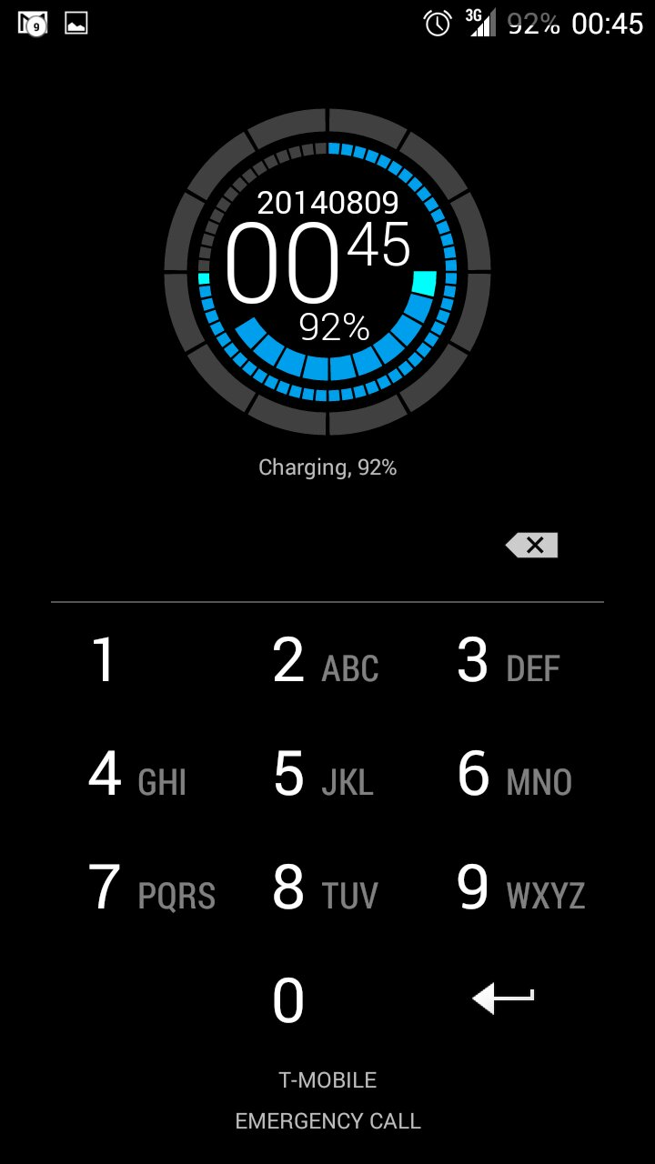 Custom Lockscreen - Zooper Widget Free (Firs…   Themer by MyColorScreen