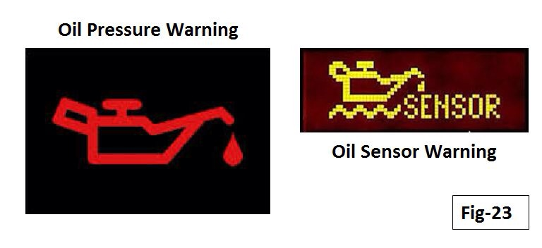 ... Be Confused With The Yellow Sensor Warning Also Shown, Which Is  Indicative Of An Oil Level Sensor Failure And Has Nothing To Do With The Oil  Pressure.