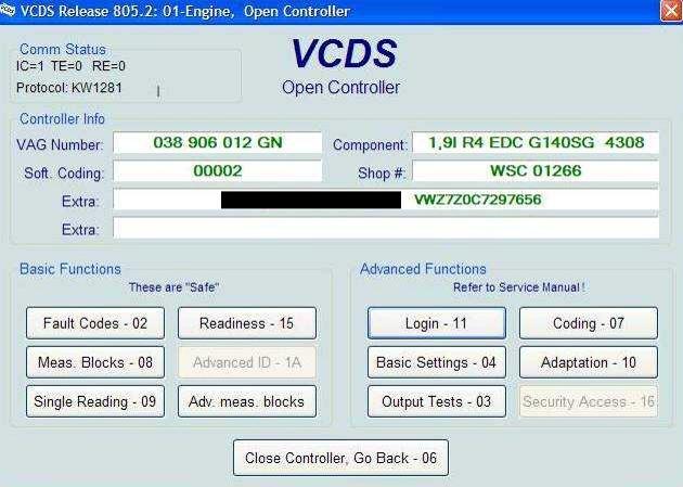 Vag-com 101 pour diesel