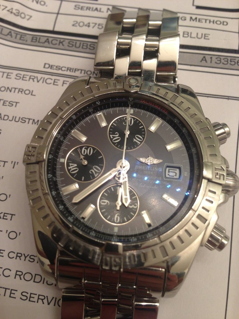 The Breitling Watch Source Forums • View topic - Black eye