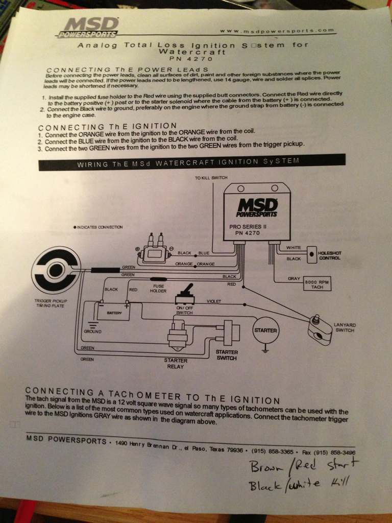 msd 4270 starter relay hook up x h2o i am trying to wire my msd enclosure and i don t understand the starter relay hook up here are my instructions