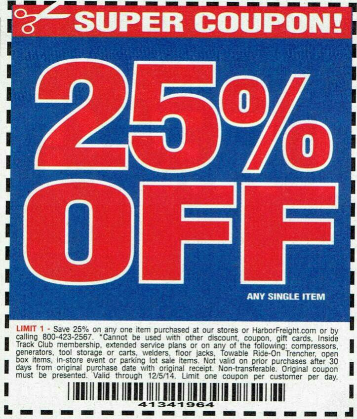 Harbor Freight Coupon Thread [Archive] - Page 25 - The Garage ...