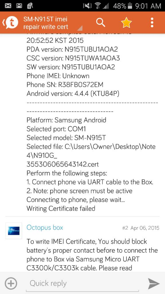 SM-N915T imei repair write cert failed [Solved] - Page 2