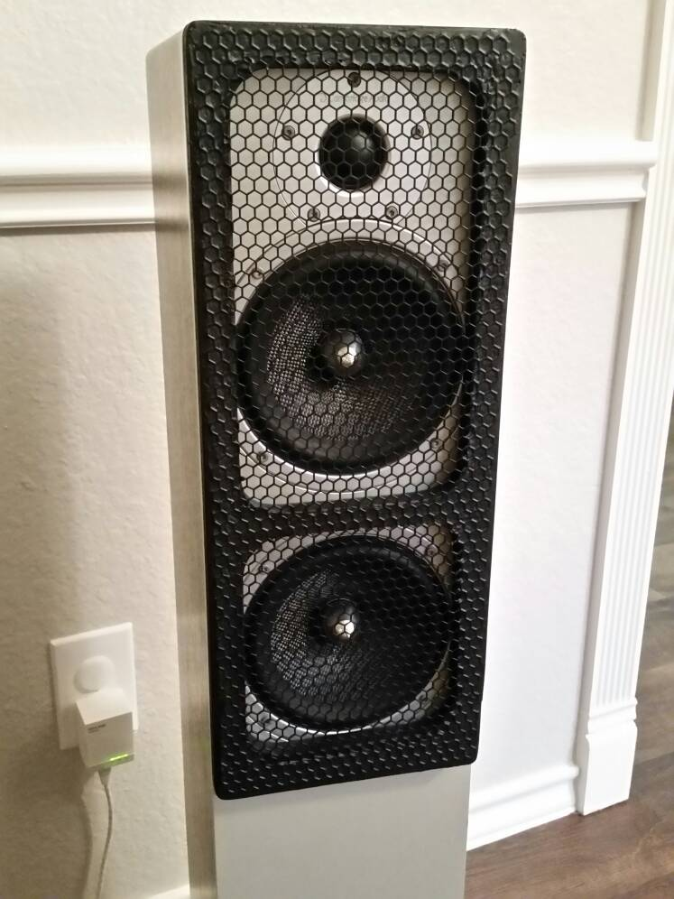 Cool Looking Speakers diy speaker grill - avs forum   home theater discussions and reviews