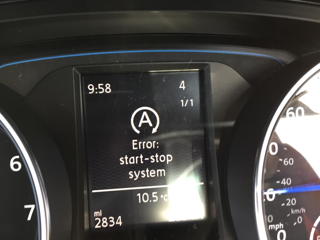 Start-Stop System Error - VW Golf R MK7 Chat - VWROC - VW R Owners Club