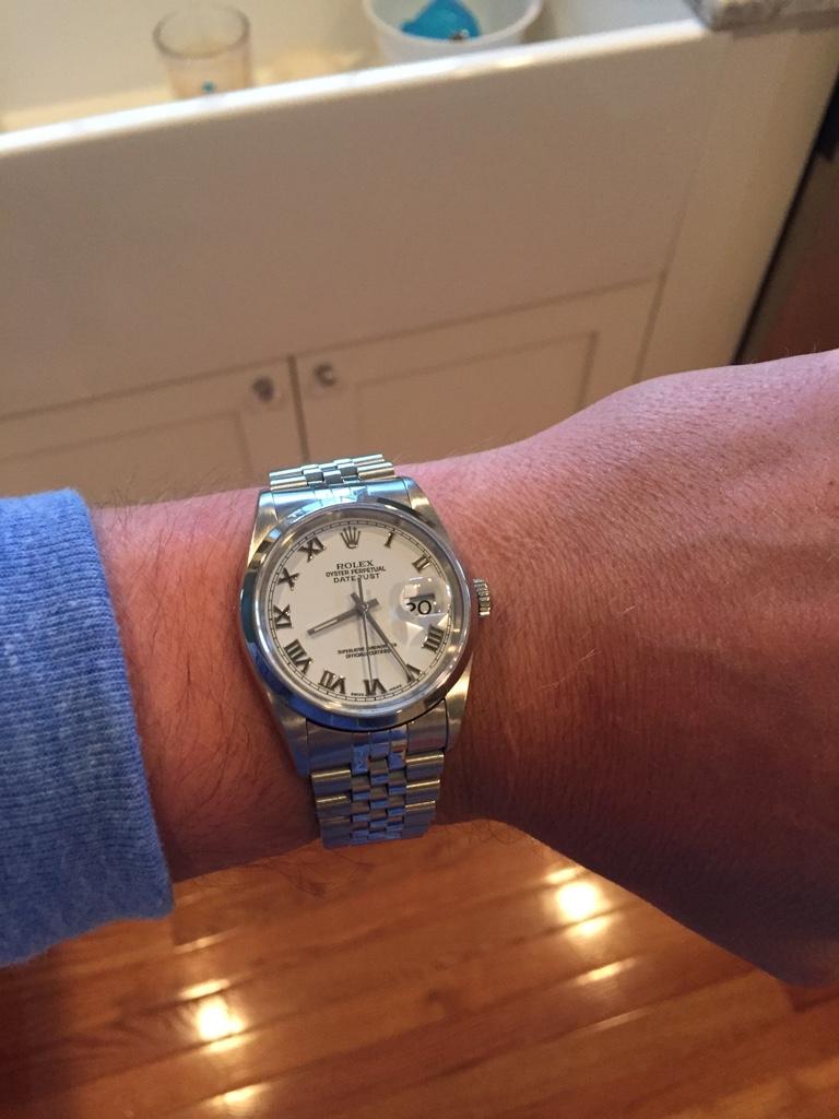 Rolex Datejust 36mm too small for man\u0027s wrist? [Archive