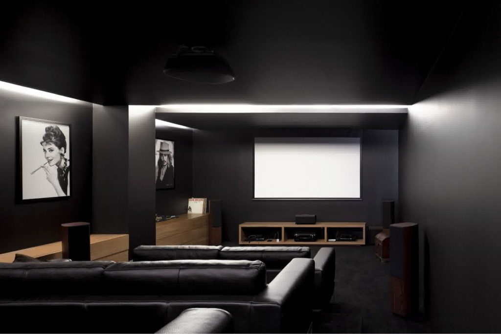 Home Theatre Wall Color 6 Juzx Spider Web Co