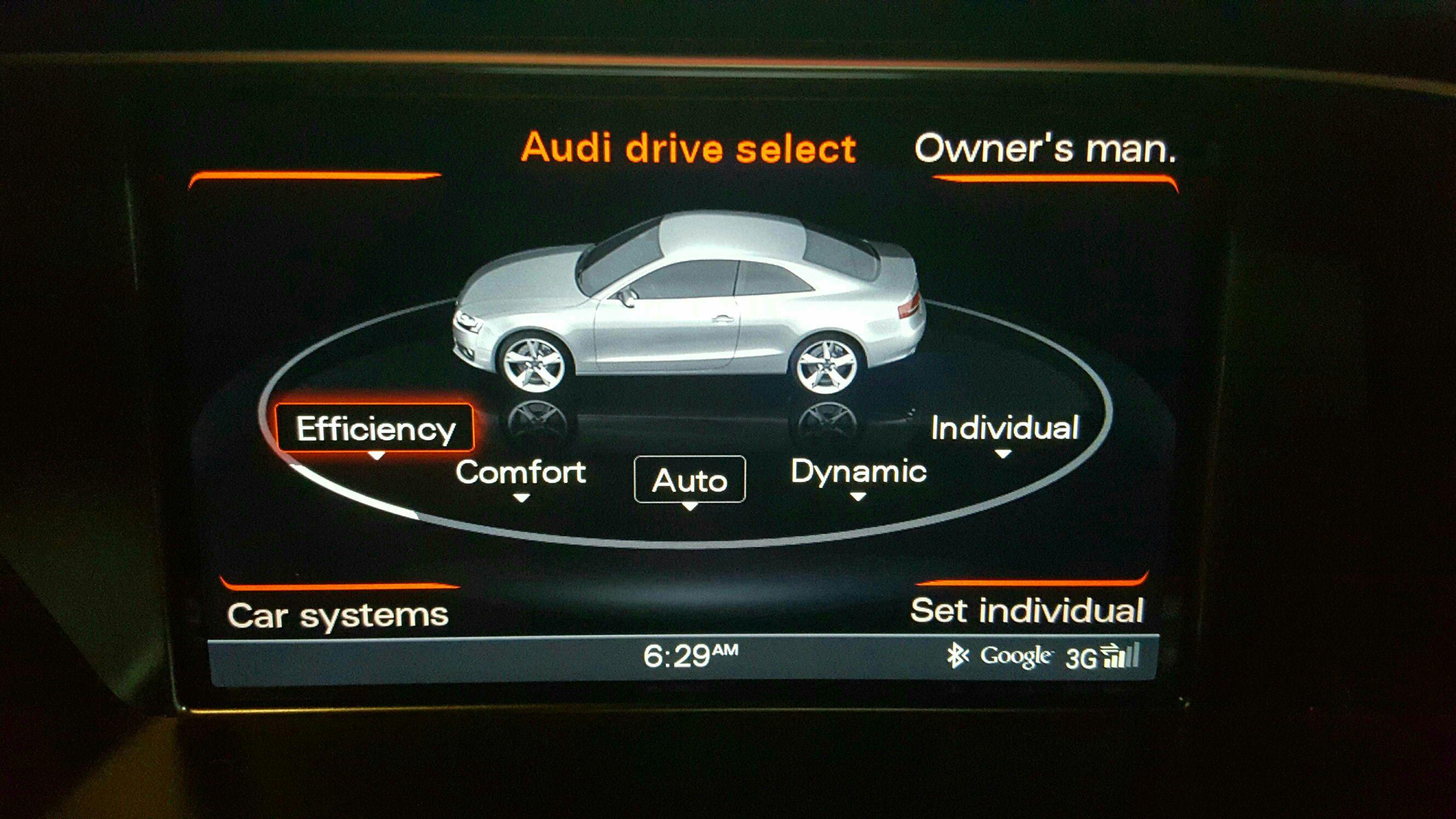 Economy drive select mode