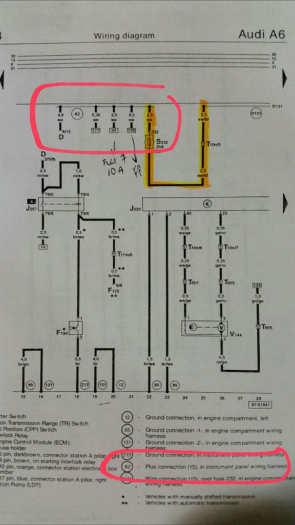 What's The Story With This Pin: Audi Allroad Engine Wiring Diagram At Eklablog.co