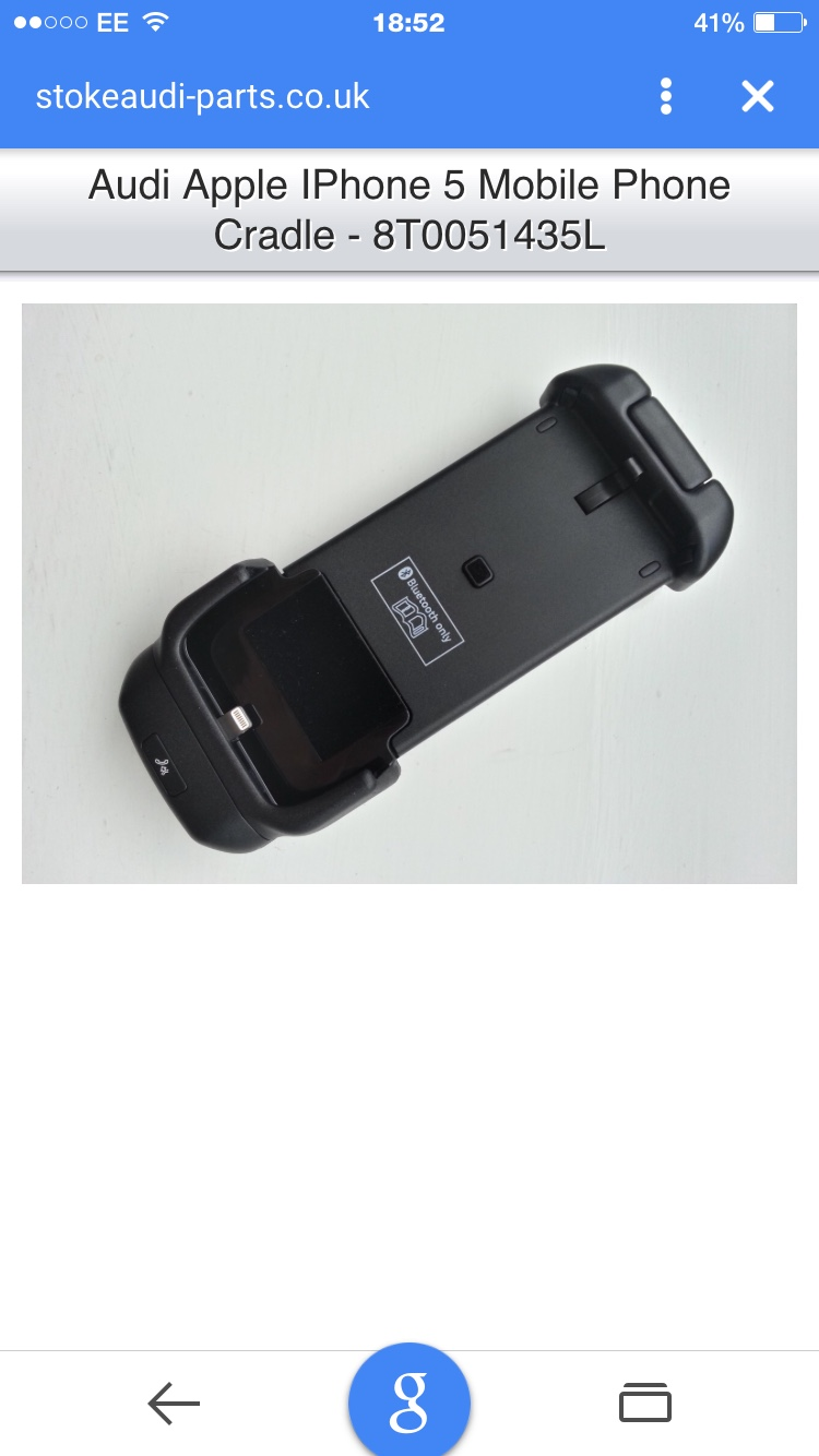 finest selection 7eb22 1e9ee The Audi TT Forum • View topic - Audi iPhone 5 charging cradle