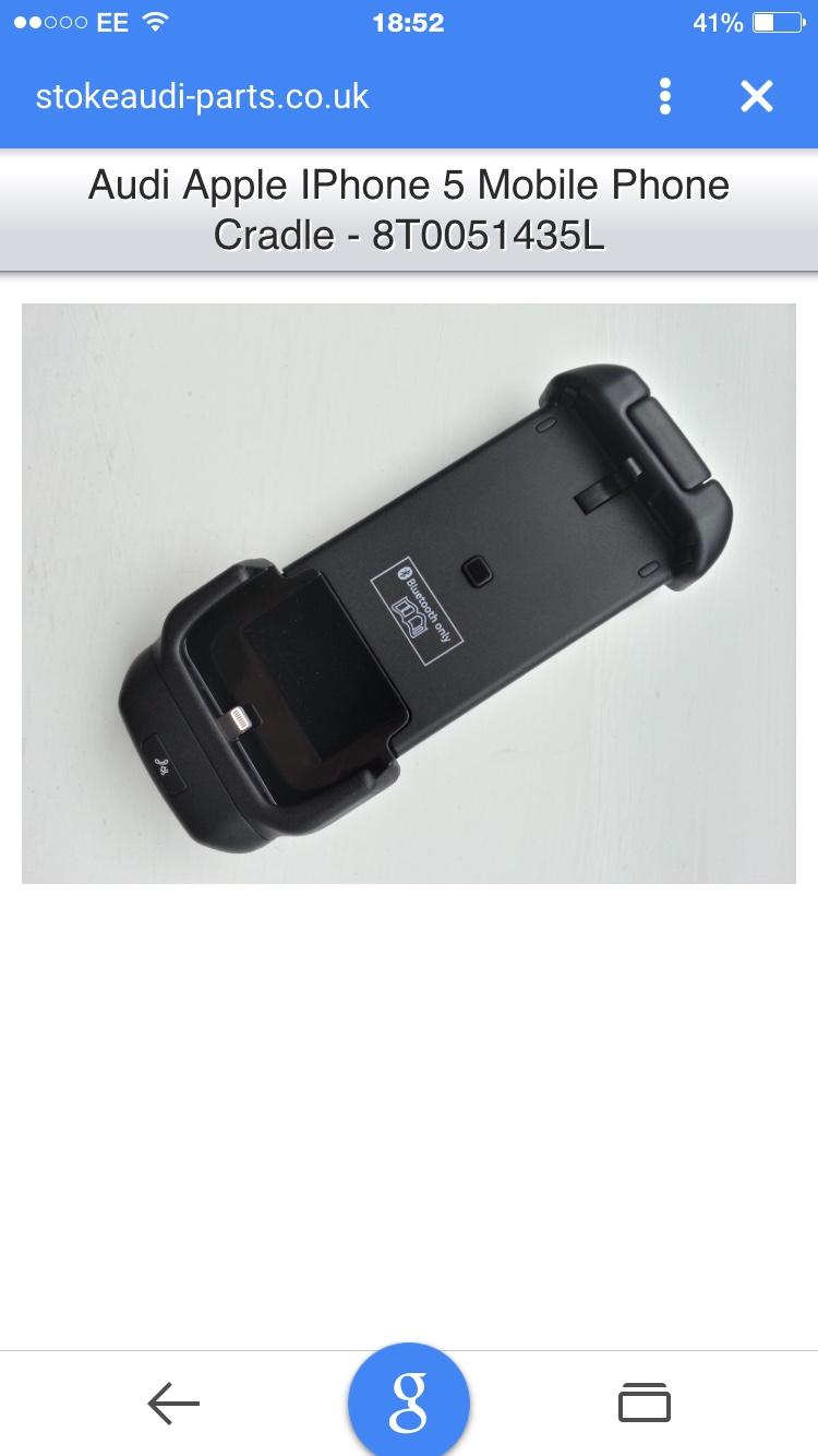 The Audi TT Forum View Topic Audi IPhone Charging Cradle - Audi iphone 6 car cradle