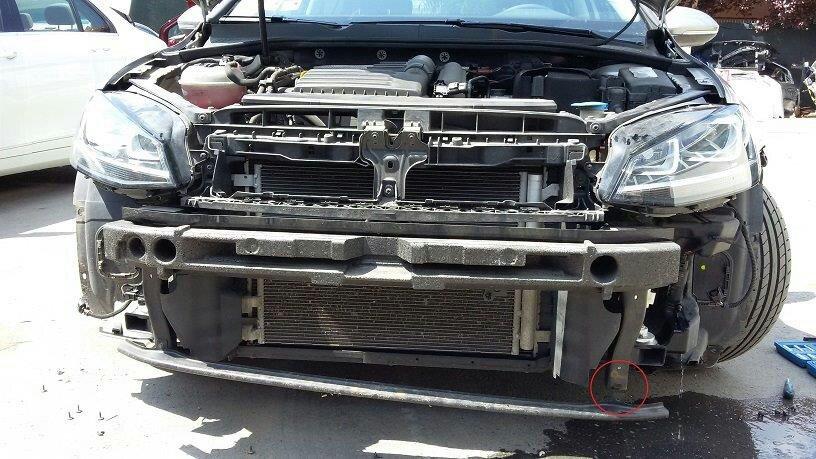 mkv gti front bumper removal