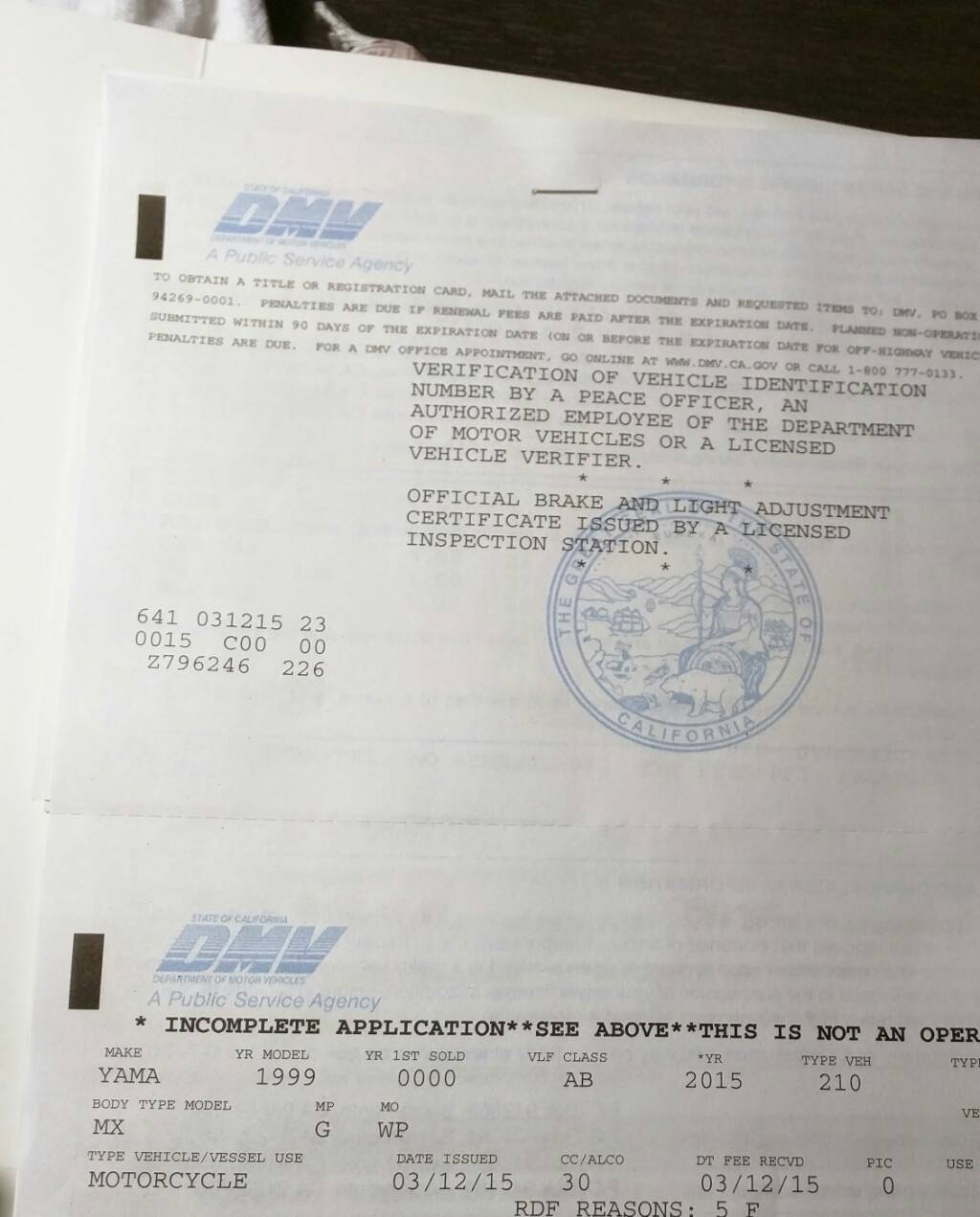 Get a Street Legal Title and Plate for ANY Bike! - Page 11