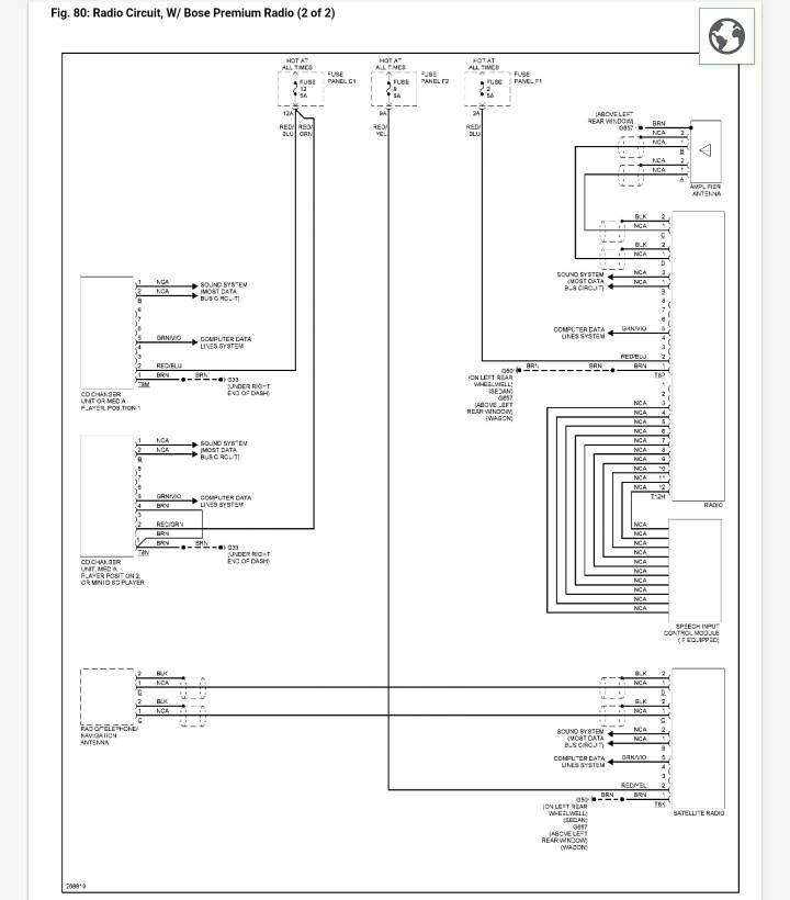 2010 corvette radio wiring diagram audizine forums  audizine forums