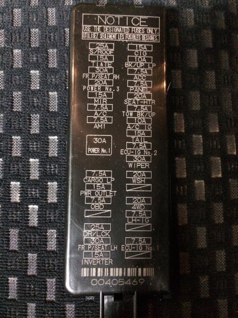2013 Tundra Fuse Box Diagram Enthusiast Wiring Diagrams Toyota Custom U2022 Rh Littlewaves Co 2002