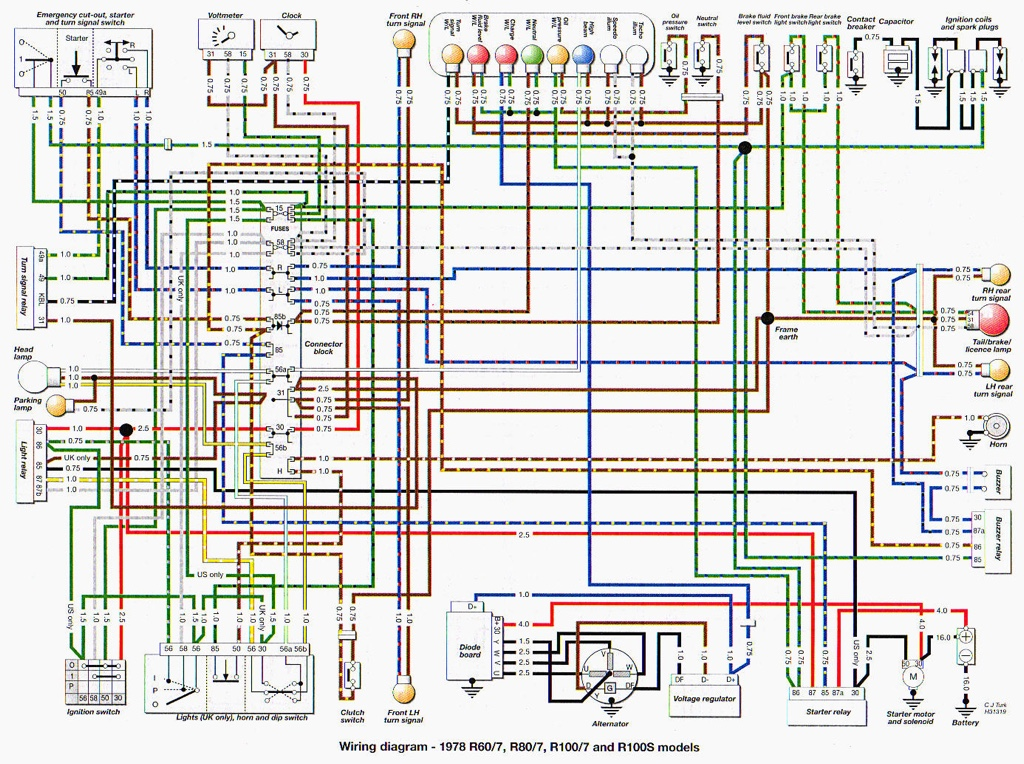 Starter relay wiring , r80/7 bit of help needed on