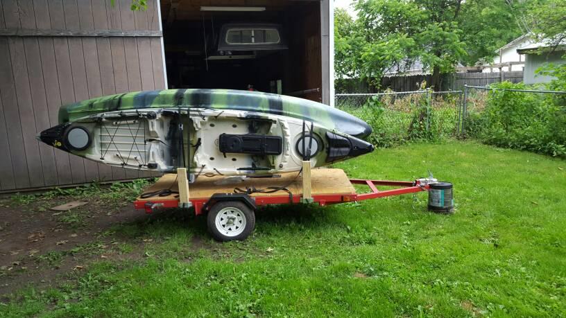 harbor freight kayak trailer 1 2 yakangler