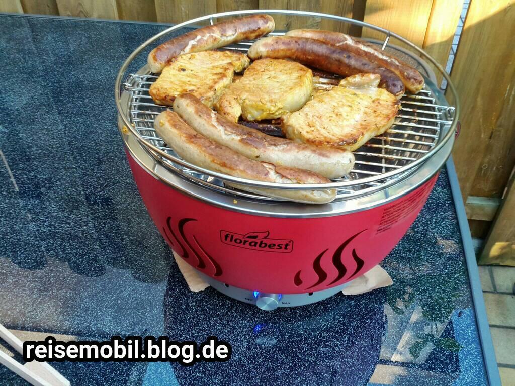 Florabest Holzkohlegrill Bewertungen : Holzkohlegrill mit aktivbelüftung rot amazon garten