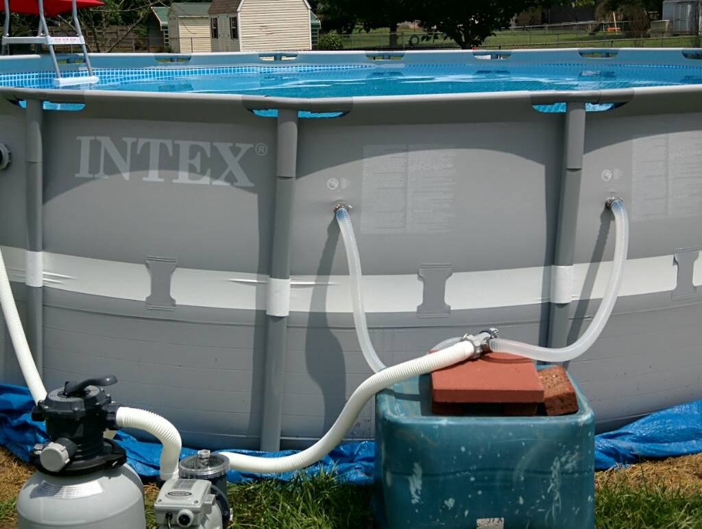 How do you hook up a vacuum to an above ground intex pool