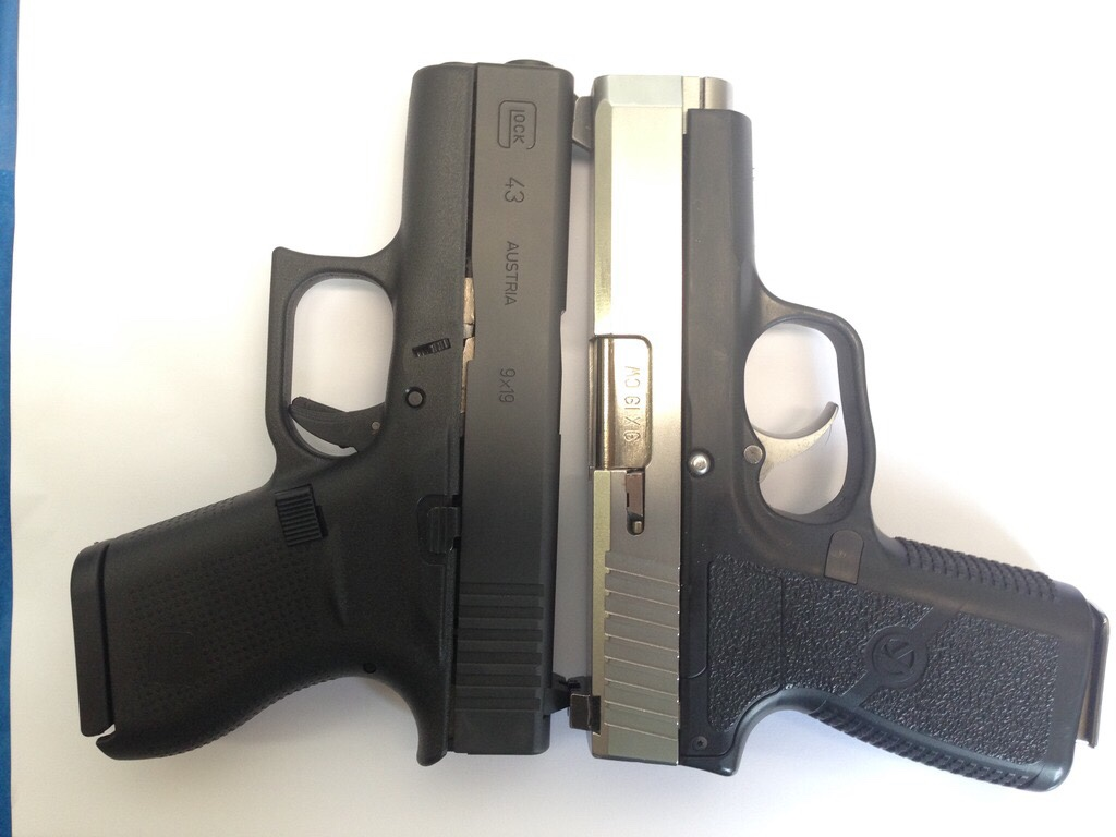 CM9 vs Glock 43 size comparison: not much real-world