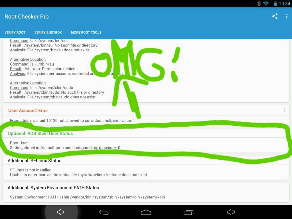 Ro secure=0 = I can root my tab!et now? - Android Forums at