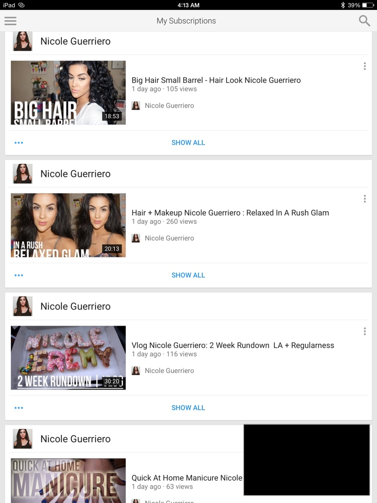 Guys I Don't Know How To Upload Screenshots, Maybe I Can Figure It  Outbut I Just Started Watching Nicole And She Just Uploaded Like A Ton  Of Videos Right