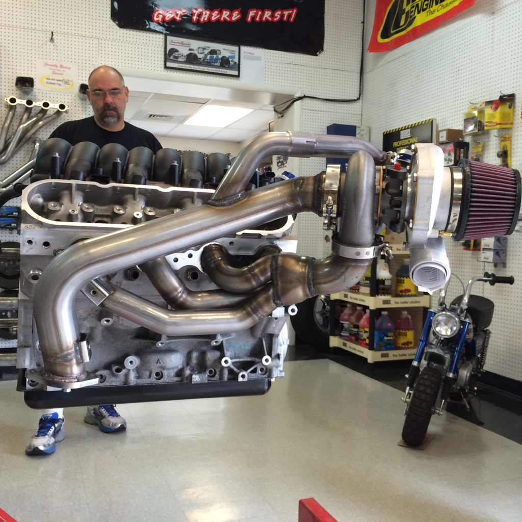 Hellion Twin Turbo kit on the stand    - Camaro5 Chevy