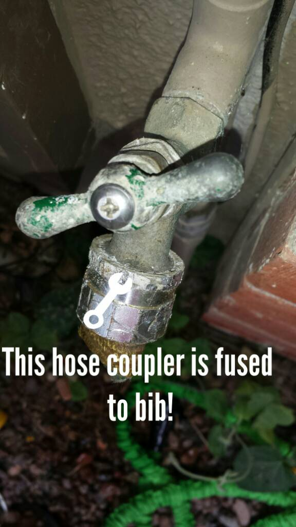 Hose Coupler Is Fused To Faucet Bib. - Plumbing - DIY Home ...