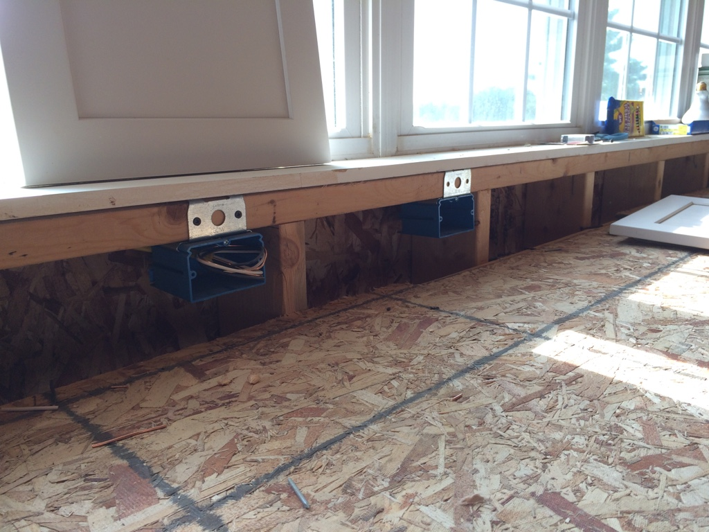 Pic included  Safe mounting height for receptacles between