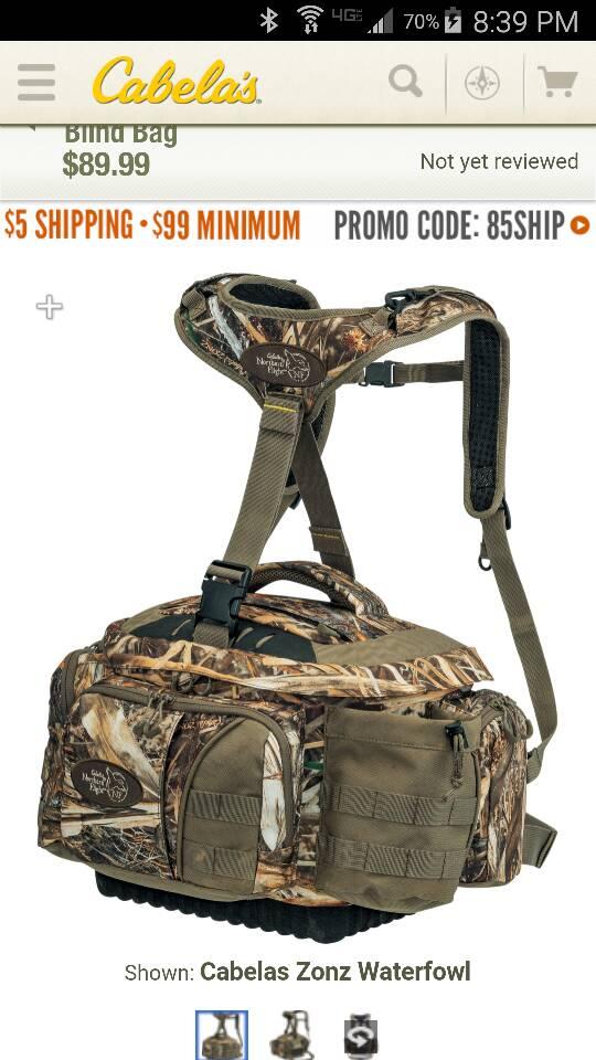 Hunting Backpack Style Blind Bag