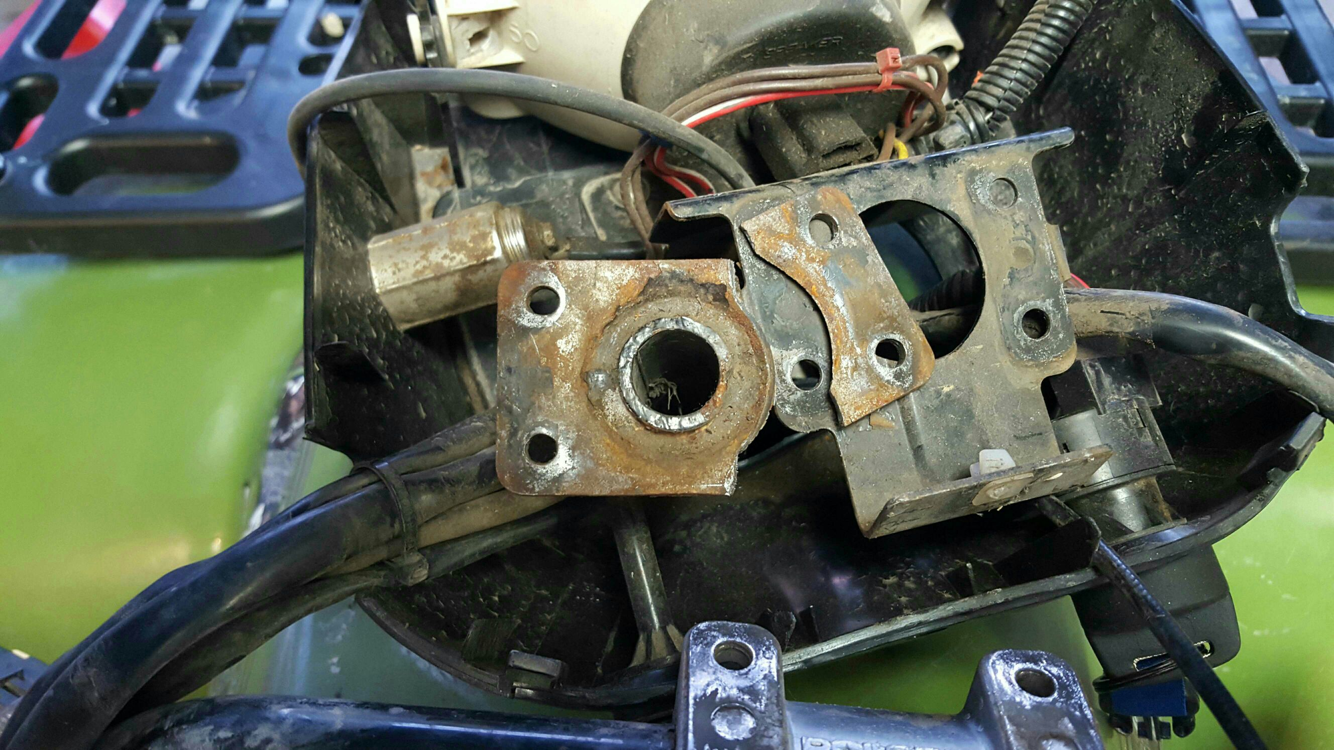 Steering Stem handlebar mount broke? - Polaris ATV Forum