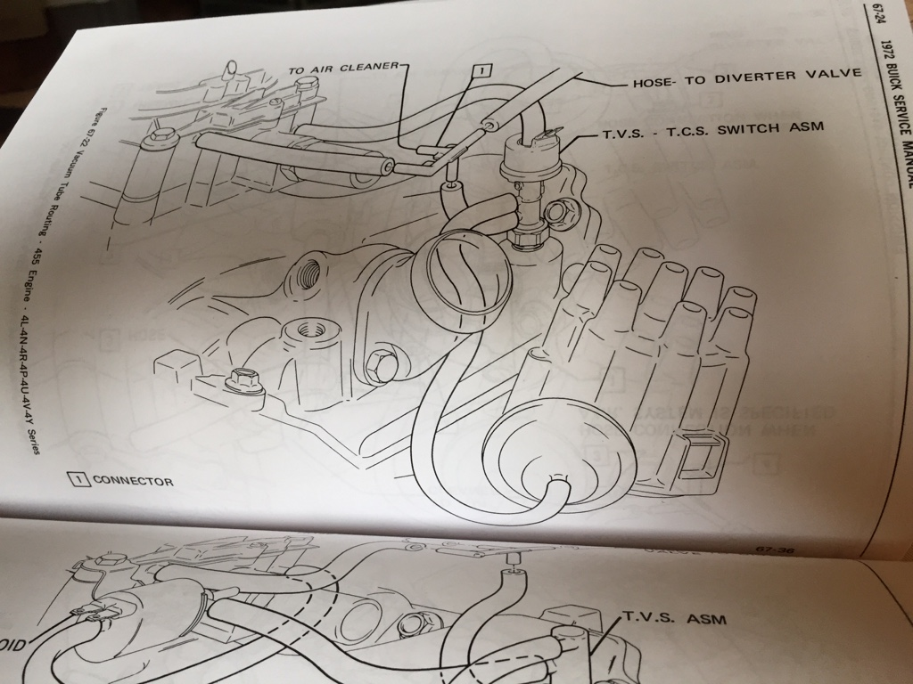 tvs tcs switch asm for 1972 riviera v8buick com1970 Buick Riviera 455 Vacuum Diagram #21