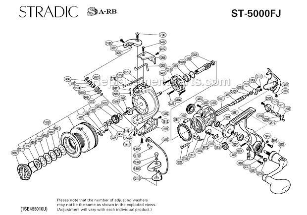 Shimano stradic FJ5000 service - Reel and Tackle Maintenance