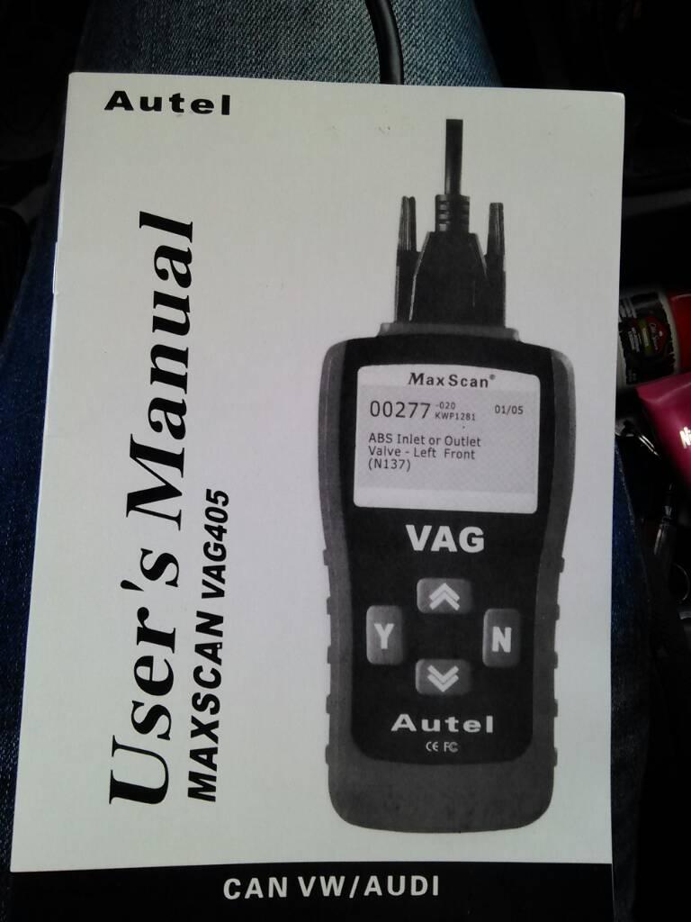 maxscan vag 405 audi 80 b4 abk
