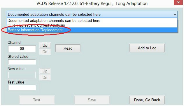 Guida codifica batteria Audi A3 8P - VAG VCDS 12 12