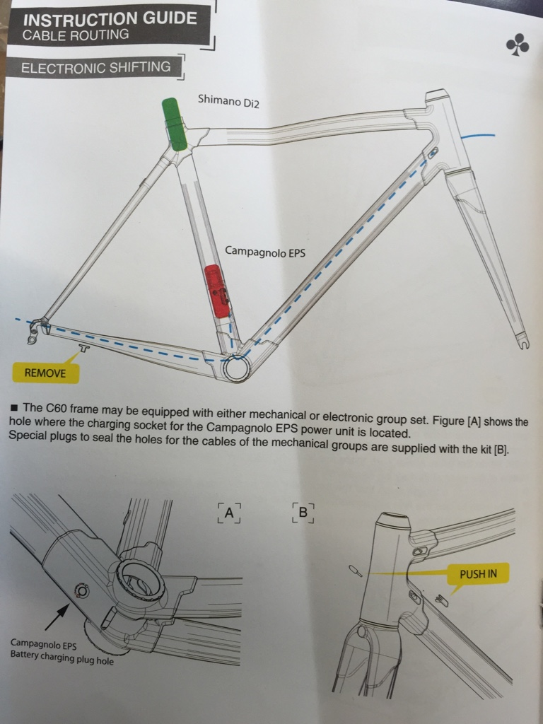 How To Internally Route On A Colnago C60 Weight Weenies Shimano Di2 Wiring Diagram Image