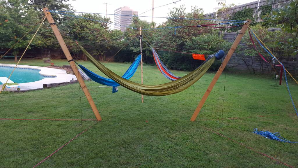 those 3 test pilots are not the   american size   variants   there were three 220  persons in them but they opted out of the photo shoot  ultimate hang 3 person hammock stand   rh   hammockforums