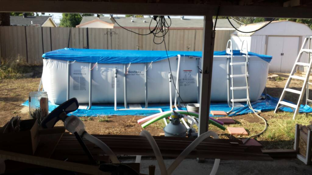 My Costco Bestway Pool in San Diego.   Trouble Free Pool